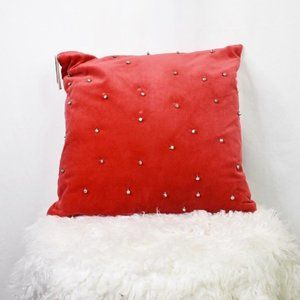 Nordstrom Rack Red Jingle Bells Pillow NWT